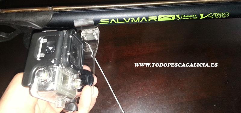 soporte cámara en el fusil de lado